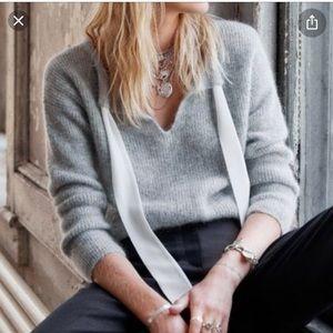 Sezane Grey Cooper Sweater